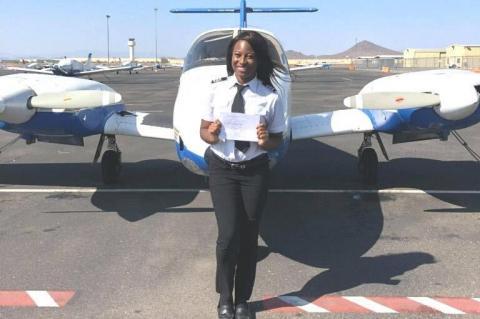 Briahna Golston, Aircraft Pilot and Certified Flight Instructor