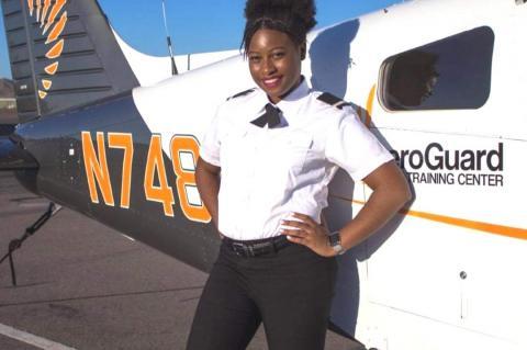 Briahna Golston, Aircraft Pilot