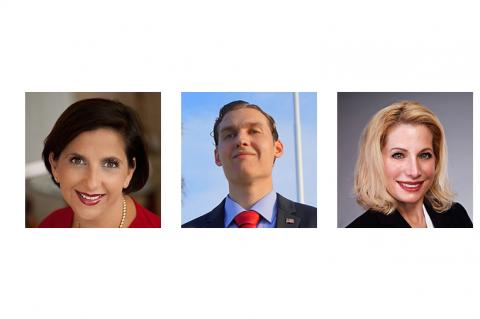 Andria Herr for the Republican Party, Andre Klass for the Libertarian Party and Pamela Lynch for the Democratic Party