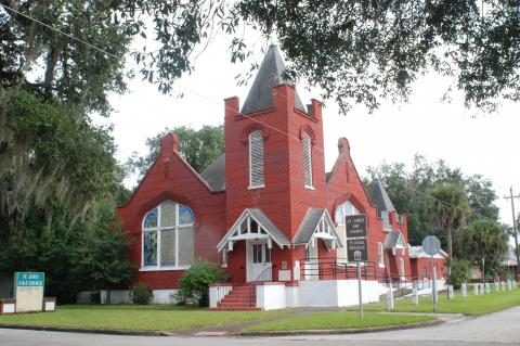The St. James A.M.E. Church is also a Florida Heritage site within Historic Georgetown.