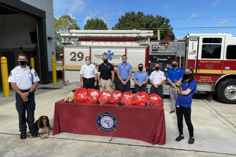 Invisible Fence of Central Florida donated 20 pet oxgen masks to the Seminole County Fire Department ealier this weekInvisible Fence of Central Florida donated 20 pet oxgen masks to the Seminole County Fire Department ealier this week