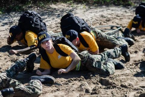 Valerie Mikos during her training at the Officer Candidate School in Newport, Rhode Island.