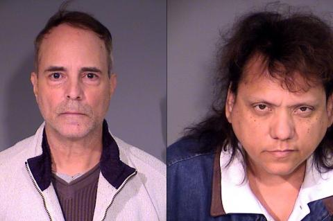 Javier (left) and Lydia Dross were arrested for taking more than $180,000 from Javier's father.