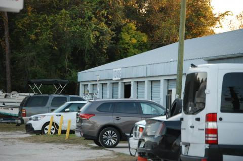 The storage unit in DeBary where the shooting took place.