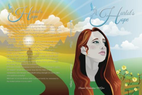 The cover of 'A Harlot's Hope' features new model Katie Ramsey, a Lyman High School student.