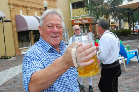 Eckhard, one of the regular performers at Hollerbach's Willow Tree Cafe, will be featured at the Oktoberfest in the Sanford Civic Center.