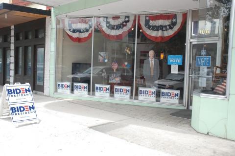 Sanford's Joe Biden campaign headquarters are located at 106 S. Palmetto Ave.(above)  in downtown Sanford.