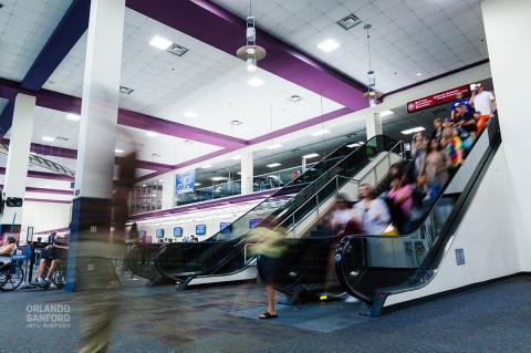 The terminal at the Orlando Sanford International Airport.