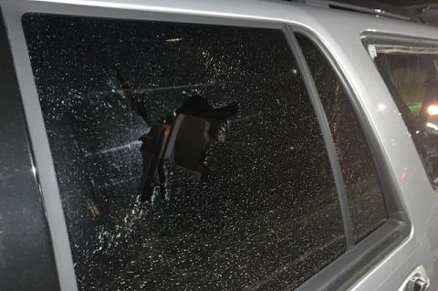 The Sheriff's Office photographed multiple cars that sustained damage by gun fire while on Interstate 4.