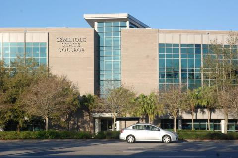 Students complain the Altamonte Springs campus (above) is crowded and more parking is needed.