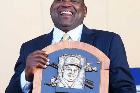"""Tim Raines, Member, National Baseball Hall of Fame, is the subject of the poem """"For Tim Raines, with Love, from Sanford …"""" by Dr. Stephen Caldwell Wright."""