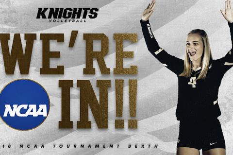 Photo courtesy of UCFAA  The UCF Women's Volleyball Team will host Florida, Florida Gulf Coast and FSU in the NCAA Tournament.