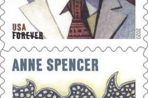 Voices of the Harlem Renaissance Commemorative Postage Stamps honoring Nella Larsen, Alain Locke, Arturo Alfonso Schomburg, Anne Spencer