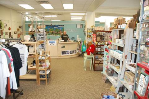 The Welcome Center retail portion of the building.